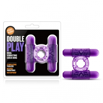 Play With Me Purple Double Play Cock Ring