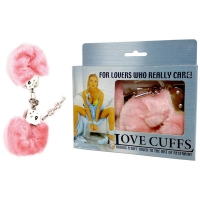 Pink Fluffy Love Cuffs