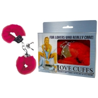 Red Fluffy Love Cuffs