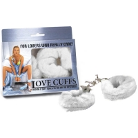 White Fluffy Love Cuffs