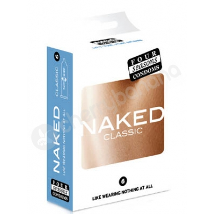 Four Seasons Naked Classic Regular Condoms 6 Pack