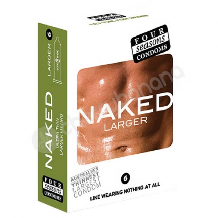 Four Seasons Naked Larger Fitting Condoms 6 Pack