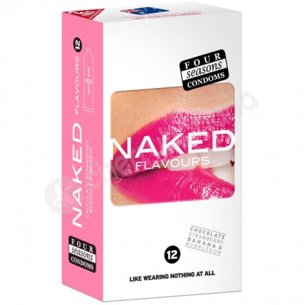 Four Seasons Naked Flavours Regular Condoms 12 Pack