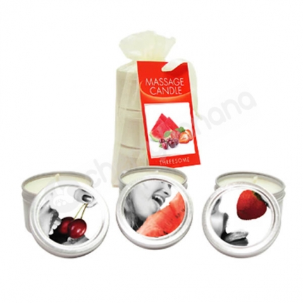 Edible Massage Candle Threesome