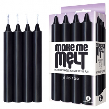 Make Me Melt Black Drip Candles 4 Pack