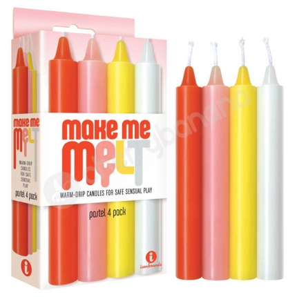 Make Me Melt Pastel Drip Candles 4 Pack