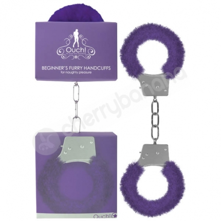 Ouch Purple Beginner's Furry Handcuffs