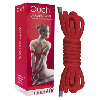Ouch Red Japanese Rope 5m