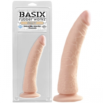 Basix Rubber Works Flesh Slim 7 Dildo